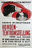 Poster by Dick F. Engelse - Hondententoonstelling te Delft