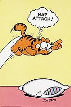 Poster by Jim Davis - Nap attack (Garfield)