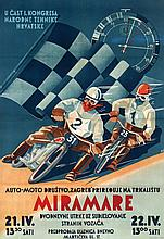 Poster by  Initials S.B. - Auto Motor Company Zagreb of Miramare