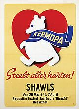 Poster by  Advertising Agency Palm - Kermopa Shawls Steelt aller harten!