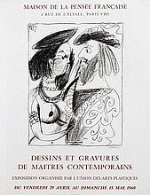 Poster by Pablo Picasso - Maison de la Pensée Francaise Dessins et Gravures de Maitres Contemporains