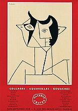 Poster by Pablo Picasso - Galerie Craven Picasso collages-aquarelles-gouaches