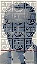 Poster by Pieter Brattinga - PTT de man achter de vormgeving van de p.t.t.