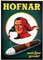 Poster by  Advertising Agency Palm - Hofnar nooit fijner gerookt!