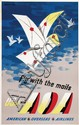 Poster by  Jan Lewitt (1907-1991)/George Him (1900-1982) - fly with the mails USA via AOA