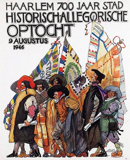 Poster by Herman Moerkerk - Haarlem Historisch-Allegorische Optocht