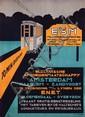 Poster by Jan Kreijnen - ESM Electrische Spoorwegmaatschappy Amsterdam Haarlem-Zandvoort