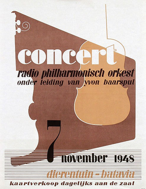 Poster by  Anonymous - concert radio philharmonisch orkest batavia