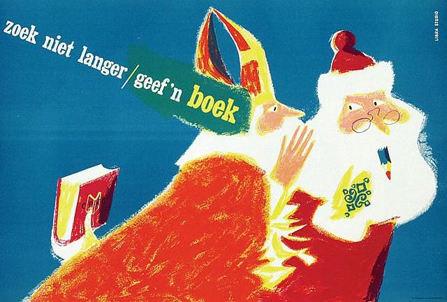 Poster by Kees van Roemburg - CPNB zoek niet langer/geef 'n boek