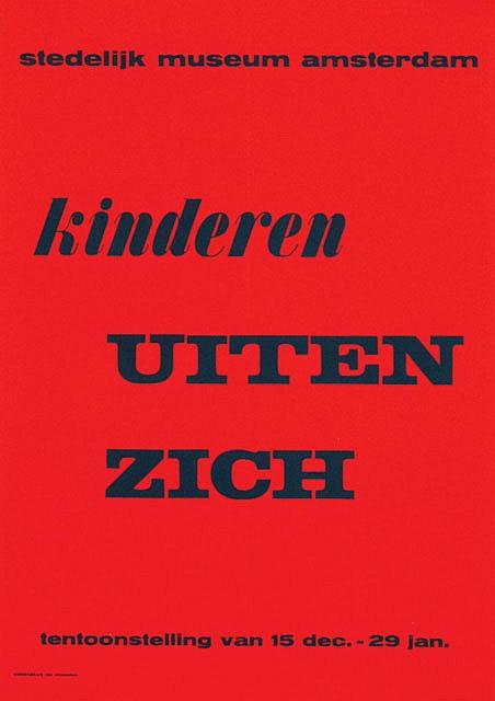 Posters (2) by Willem Sandberg - Stedelijk Museum, kinderen Uiten Zich