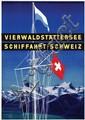 Poster by Otto Baumberger - Vierwaldstättersee Schiffahrt Schweiz