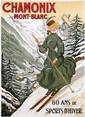 Poster by Jules A. Faivre - Chamonix Mont-Blanc