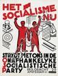 Poster by Johan G.D. van Hell - Het Socialisme Nu