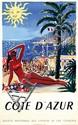 Poster by Hervé Baille - Côte d'Azur