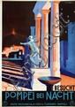 Poster by Giuseppe Riccobaldi - Besucht Pompei bei Nacht