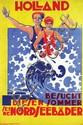 Poster by Machteld den Hertog - Holland Besucht diesen Sommer seine Nordseebäder