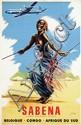 Poster by  C. Pub (Commerciale Publicité) - Sabena Belgique-Congo Afrique du Süd