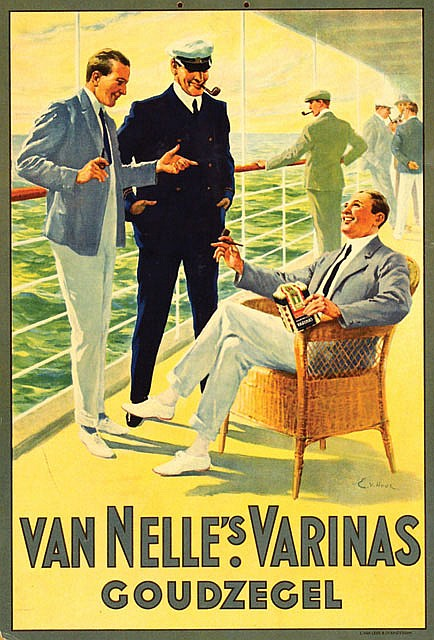Poster by E. van Hove - Van Nelle's Varinas Goudzegel