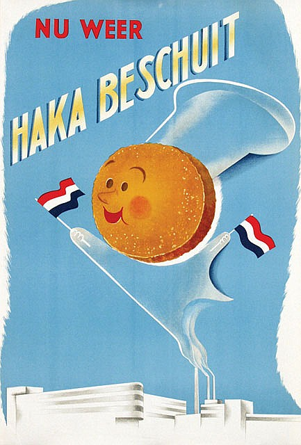 Poster by  Anonymous - nu weer Haka Beschuit