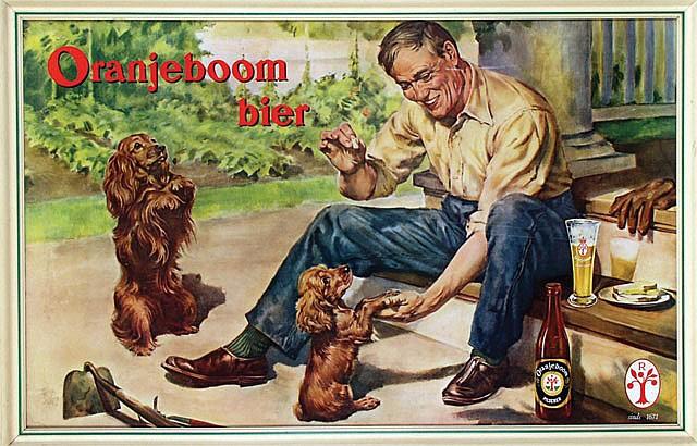 Poster by  Anonymous - Oranjeboom 'n Vorstelijk glas bier!