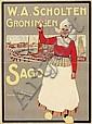 Posters (3) by Dirk H. Melk - Sago W.A. Scholten Groningen
