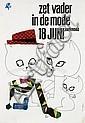 Posters (3) by Cornelius van Velsen - zet vader in de mode vaderdag