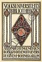 Poster by Otto van Tussenbroek - Volksuniversiteitsbibliotheek Haarlem