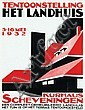 Poster by  J. de W. - Tentoonstelling het landhuis Kurhaus Scheveningen