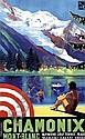 [ Poster ] Max Ponty (1904-1972) Chamonix Mont-Blanc 62x100, 1936 A-