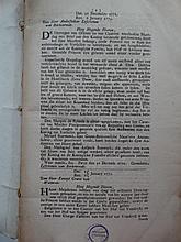 HIS - (NOUVELLES DER STAATEN GENERAAL 1773)