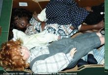 Modern artist's dolls: (1) Philip Heath; (2) ETC