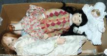Modern artist's dolls: (1) Violet; (2) Hildegard