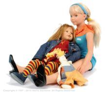 PAIR inc Zapf Melanie collector's vinyl doll