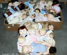 unboxed Dolls and Bears. Includes modern artist