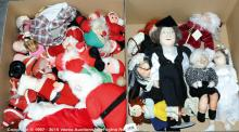 QTY inc Collection of cloth dolls and Christmas