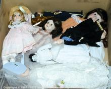 GRP inc Dolls, bisque: English Costume Dolls