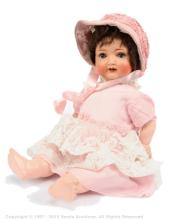 Baby Rose German painted bisque doll, German