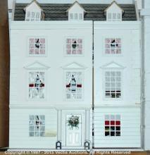 Modern Doll's house, in Georgian style, opens