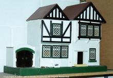 Amersham doll's house, with garage, British