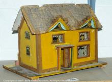 Thatched cottage wooden doll's house, finished