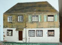 Triang large doll's house, with metal windows