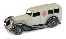 Dinky No.30f Ambulance - grey body, black