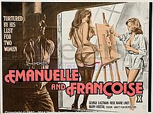 EMMANUELLE AND FRANCOIS (1975) Film Poster. UK