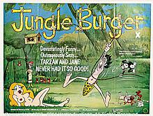 JUNGLE BURGER (1975) Film Poster Plus Another, UK Quads