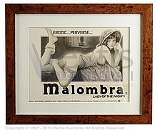 CONCEPT ARTWORK for MALOMBRA (c.1970s) UK Quad