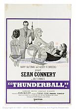 THUNDERBALL (1965) Film Poster. UK Double Crown