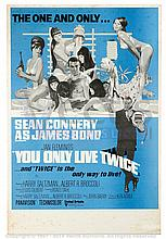 YOU ONLY LIVE TWICE (1967) Film Poster. UK Double Crown