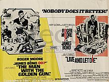 LIVE AND LET DIE / THE MAN WITH THE GOLDEN GUN UK Quad