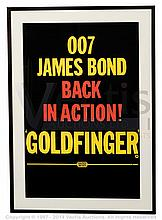 GOLDFINGER (1964) Film Poster. UK Double Crown