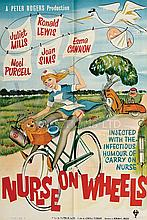 NURSE ON WHEELS (1963) Film Poster. UK One